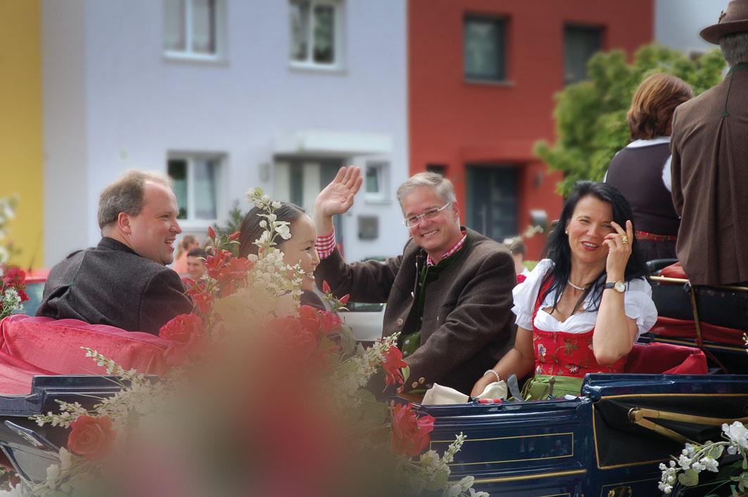 Bürgermeister Gruchmann in der Kutsche